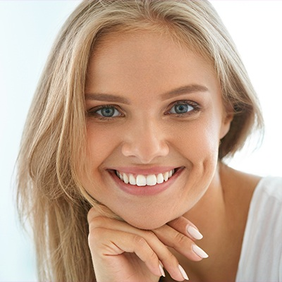 woman with perfect white smile